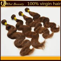 Buy cheap Brown Brazilian Remy Human Hair Extensions  product