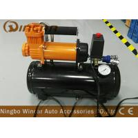 Buy cheap Auto 12v Portable Air Compressor 12v 30mm Orange Color With 8 Liter Tank product