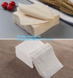China 1/4 Fold Coffee Bar Beverage Black Paper Napkin,Printing paper napkin/decorative paper dinner napkins, BAGPLASTICS,PAC on sale