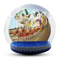 Buy cheap Festival Decoration Airblown Inflatable Snow Globe Customized Logo product