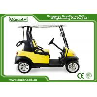 Buy cheap Excar 2 Seats Yellow Electric Golf Car With Disc Brake And Trojan Battery from wholesalers