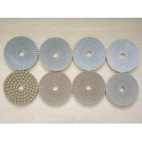 Buy cheap #50 #100 #200 #400 125mm White Wet Polishing Pad Thickness 2.5-3.0mm product