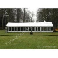 Buy cheap White Fabric Top Outdoor Event Tent , Aluminum Profile Hard Glass Wall Tent product