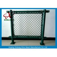 Buy cheap Anti-Corossion Diamond 3.0mm Wire Mesh Fence Hot Dipped Galvanized Dark Green product