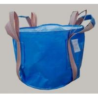 Buy cheap Two loop blue Circular FIBC bag with 4 lifting UV treated for transportation product