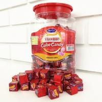 Buy cheap 2.75g Strawberry Flavor Compressed Cube Candy In Jars Good price good quality product