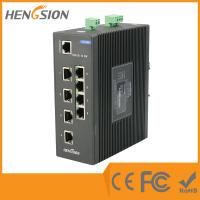 Buy cheap Industrial 10 Port Network Switch 8 * 100 Base TX + 2 * 1000 Base SFP FX Fiber Optic product