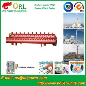 Buy cheap Low Loss Boiler Header Manifolds / Boiler Steam Header Non Pollution product