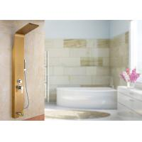 Buy cheap Gold Painting ROVATE Thermostatic Shower Panel Brushed Surface Finishing product