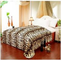 Buy cheap Breathable Queen Size Tiger Print Blanket Lovely Custom For Adult / Children product