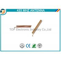 Buy cheap 433Mhz Helical Spring Coil Cooper Antenna With Right Angle Connector,2 dbi inner internal type antenna product
