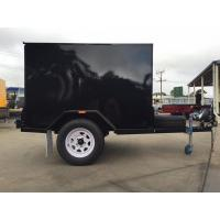 China Single Axle 7 X 5 Enclosed Trailer Furniture Vans Trailer For Camper / Moving on sale