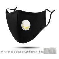 Buy cheap PM2.5 Cotton Cloth Fabric Dust Face Mask With Filter Reusable Washable product