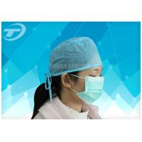 Buy cheap Blue Disposable Nonwoven Doctor Cap/Caps With Tie On Or Elastic  61*14cm product