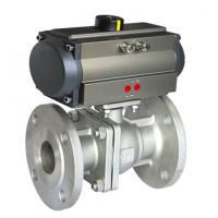Buy cheap 304 316 Sanitary Stainless Steel Pneumatic Actuator Ball Valve product