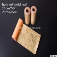 China New Fashion Italy Roll Gold Leaf Used for Chinese Factory Home Designer Furniture Decor PVC Art on sale