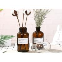 Buy cheap Machine Made Glass Brown Bottle Decorative Glass Vases For Flower / Ins Popular product