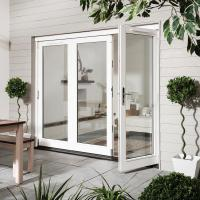 Buy cheap Exterior Commercial Aluminium Hinged Doors / Insulated Tempered Glass Front Door product