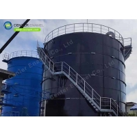 Buy cheap Bolted Steel Frac Sand Storage Tanks AWWA D103-09 Standards product