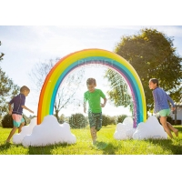 Buy cheap Summer Home Backyard Waves Inflatable Rainbow Arch Sprinkler For Kids product