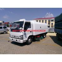 Buy cheap ISUZU 600P Single Cabin Brand New 4X2 6Wheeler 3M3 Mini Sweeper Road Truck With from wholesalers