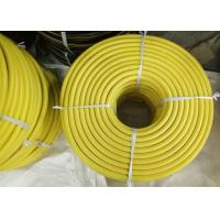 Buy cheap Yellow EPDM 3/4 Jack Hammer Rubber Air Hose , Flexible Rubber Tubing With Claw Fittings product