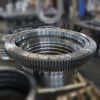 Buy cheap high precision slewing bearing, single row ball type slewing ring, swing bearing product