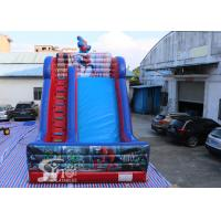 China 7 meters high kids spiderman inflatable slide with complete digital printing for outdoor parties on sale