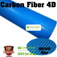 Buy cheap 4D Glossy & Shiney Carbon Fiber Vinyl Wrapping Films--Blue product