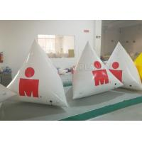 Buy cheap White Large Inflatable Buoys Hand Printing CE / UL Air Pump And Repair Kit product