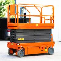 Buy cheap Scissor Type Self Propelled Single Man Lift Convient Without Power Supply product