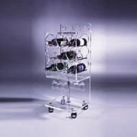 Buy cheap Clear Acrylic Wine Display Stand Holder For Serving Handcart product