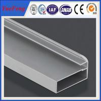 Buy cheap holes drilling anodized shiny machined polish shower door frame parts aluminum profile product
