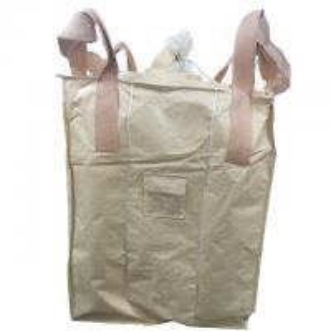 Buy cheap Flat Bottom FIBC Bulk Bags / PP Tubular Big Bag With Stevedore Loops from wholesalers