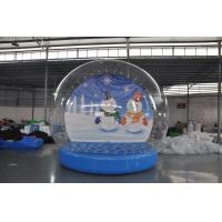 Buy cheap Stock on sale inflatable snow show balls, Christmas snow globe,inflatable from wholesalers
