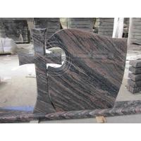Buy cheap China Aurora Granite Cross Headstones , Graveside Monuments Headstones Heat  Proof product