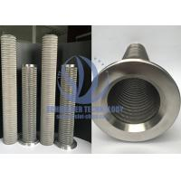 Buy cheap High Performance Wire Mesh Filter For Filtration System , 0.15mm Filtering Slot product