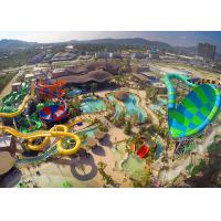 Quality Amusement Park Tornado Water Slide 37.5° Maximum Angle Glass Fiber Material for sale