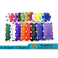 Buy cheap 11.5g - 32g Clay Poker Chips With Sticker With Unique Dice Fancy Mold Design product