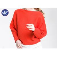 Buy cheap Boat Neck  Womens Knit Pullover Sweater Lady Sexy Drop Shoulder Ottoman Knitted Jumper product