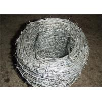 Buy cheap Heavy Duty Barbed Galvanized Iron Wire For Wine , Prison Low Carbon Steel Wire product