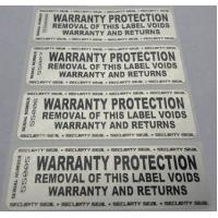 Buy cheap Custom Printing Permanent Security Labels / Alarm Stickers Waterproof Anti Counterfeit product