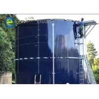 Buy cheap Glass Lined Steel Industrial Wastewater Storage Tanks With Aluminum Alloy Trough Deck Roofs product