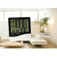 Buy cheap ABS Material Plastic Digital Room Thermometer Hygrometer With Probe Daily Alarm Function product
