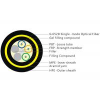 Buy cheap 200M Span 12 Core Fiber Cable , Gel Filled Double Layer Loose Tube Fiber Cable product