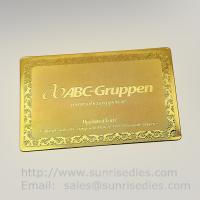 Buy cheap Gold Tone Etching Brass Business cards, China etched metal cards factory product