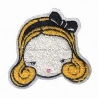 Buy cheap Applique Chenille Embroidered Patch in Pretty Girl Design, Perfect for Garments and Toys product