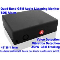 Buy cheap Global Indoor Outdoor GSM LBS Tracker Spy Audio Listening Bug W/ SOS Alarm & 2-Way Calling product