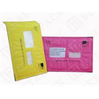 Buy cheap Custom Made Recycled Kraft Bubble Mailer Green / Pink With Window product