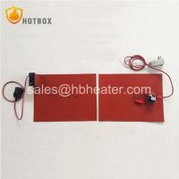 China Silicone rubber heating pad blanket mat with knob type thermostat or digital temperature controller on sale